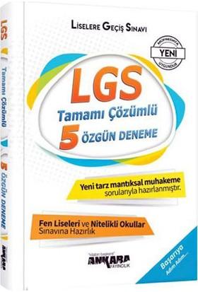 Ankara 8. Sınıf LGS Tamamı Çözümlü 5 Özgün Deneme