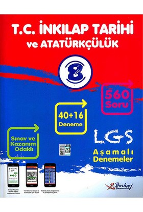 Berkay 8. Sınıf LGS T.C. İnkılap Tarihi Ve Atatürkçülük 40+16 Deneme