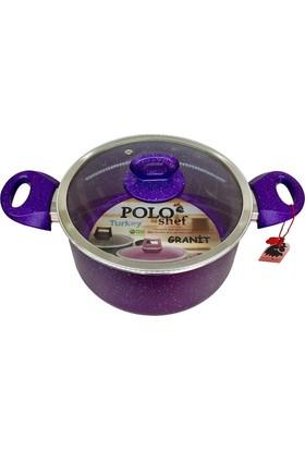 Polo Shef Granit Derin Tencere 24 Cm - Mor