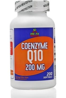 Me-Fa Naturals Coenzyme Q10 200 Mg 200 Softgels