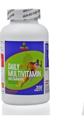 Me-Fa Natural'S Daily Multivitamin Multimineral Coenzyme Q10, Kırmızı Kore Ginsengi 300 Tablet