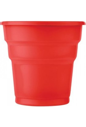 Roll-Up Kırmızı Plastik Bardak