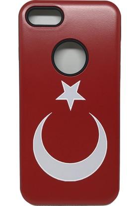Vendas Apple iPhone 5/5S/5SE Türk Bayraklı Sert Silikon Kılıf + Ekran Koruyucu