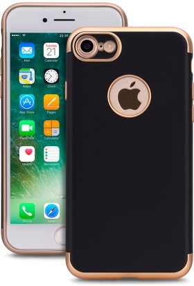Spada iPhone 7 Trio Siyah Gold TPU Kapak Kılıf