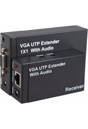 Alfais 5122 300 Metre Utp Vga Extender Rj45 Cat5E 6 Ek Kablo Uzatıcı