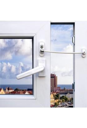 Penkid Kablolu Pvc Pencere Emniyet Kilidi Beyaz