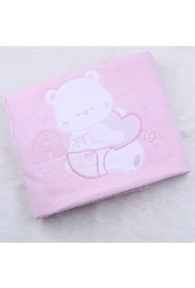 Minidamla Triko İşlemeli Battaniye 42518 1 Pembe