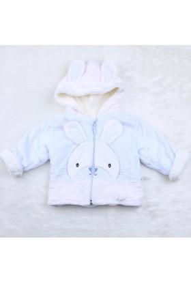 Minidamla Velboa Tavşanlı Kapüşpnlu Mont A11362 1 Mavi