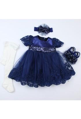 Pegu Pugi Bgo1 Lacivert Bebek Özel Gün Elbisesi