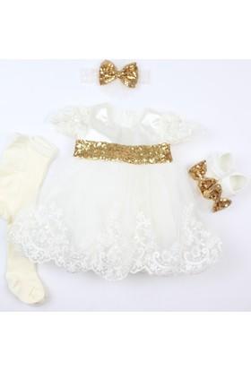 Pegu Pugi Bgo5 Beyaz Bebek Özel Gün Elbisesi