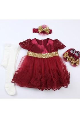 Pegu Pugi Bgo6 Koyu Bordo Bebek Özel Gün Elbisesi