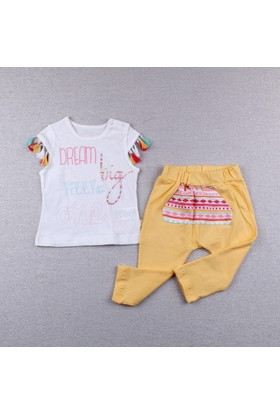 Bebetto Kız Bebek 2'li Takım Sarı K1715 Be