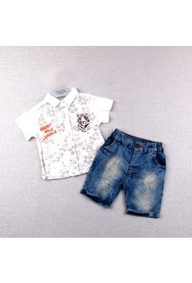 Bebetto Erkek Bebek 2'li Takım Beyaz K1745 Be