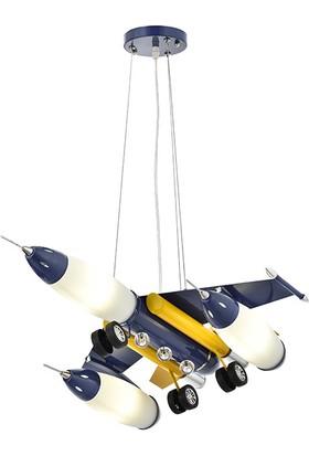 Eray Aydınlatma 886FB Uçak Modeli Çocuk Avizesi