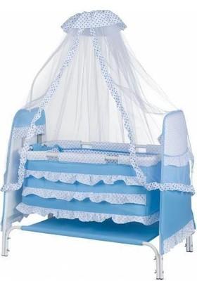 ÖzlemBebe Lüx Şeker Bebek Beşiği - Mavi