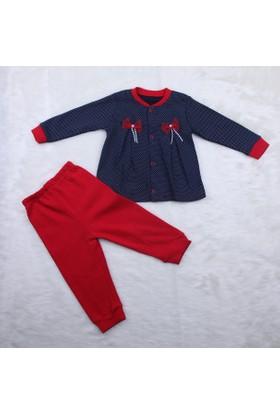 Bibeca Baby Pileli Kız Takım Elbise 0403 Kırmızı