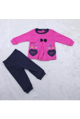 Bibeca Baby Kalbli Kız Takım Elbise 0416 Fuşya