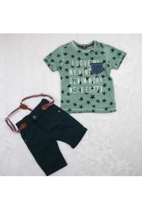 Bizizo Baby Bizizo Baby Pantolon Askılı Kot 2'li Takım 10502 Yeşil
