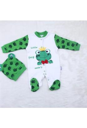 Necixs Kids Kurbağalı Uyku Tulum Takım 2198 Yeşil