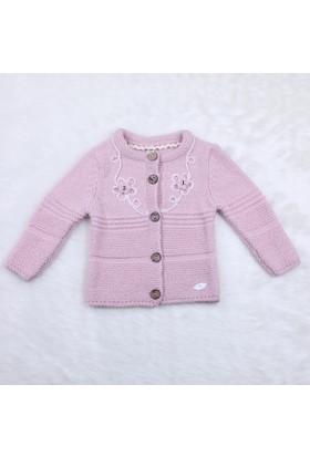 Baby Mio Süzene Nakışlı Hırka 6102 1 Pembe
