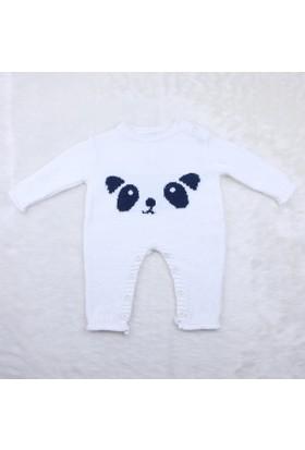 Baby Mio Bebe Ayılı Tulum 6105 Beyaz