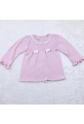 Baby Mio Bebek Triko Elbise 6107 Pembe