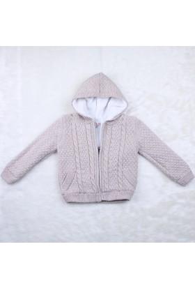 Baby Mio Kapüşonlu Erkek Hırka 7E023004 Kum Rengi