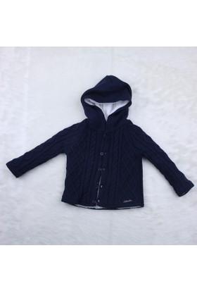 Baby Mio Yürütmeli Kapüşonlu Hırka 7E023012 Lacivert