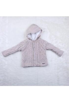 Baby Mio Kapüşonlu Erkek Hırka 7E023012 1 Kum Rengi