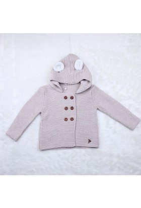 Baby Mio Kulaklı Kapüşonlu Hırka 7E023013 Karamel