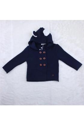 Baby Mio Yürütmeli Kapüşonlu Hırka 7E023013 1 Lacivert