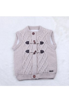 Baby Mio Çoban Düğmeli Yelek 7E023015 Bej