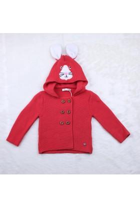 Baby Mio Kulaklı Kapüşonlu Hırka 7K021012 Kırmızı