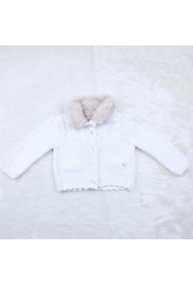 Baby Mio Kürk Yaka Bolero 7K021019 Beyaz
