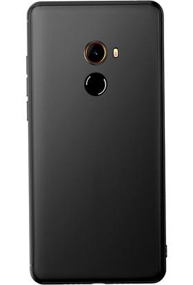 Microcase Xiaomi Mi Mix 2 Elektrocase Silikon TPU Kılıf + Tempered Cam