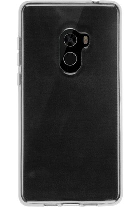 Microcase Xiaomi Mi Mix 2 Ultra İnce Soft Silikon Kılıf + Tempered Cam