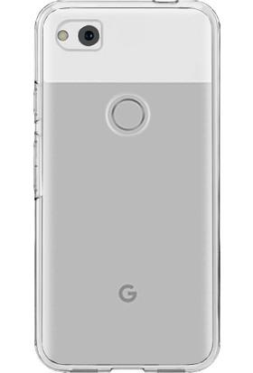 Microcase Google Pixel 2 Ultra İnce 0.2mm Silikon Soft Kılıf + Tempered Cam