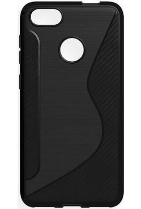 Microcase Xiaomi Mi 5X (A1) Carbon S Line Silikon TPU Kılıf + Tempered Cam