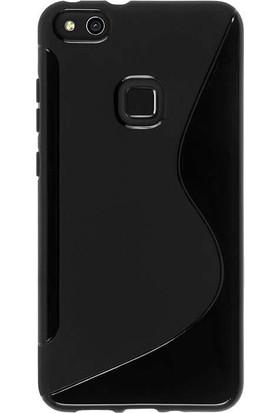 Microcase Huawei P10 Lite S Line Silikon Kılıf + Tempered Cam