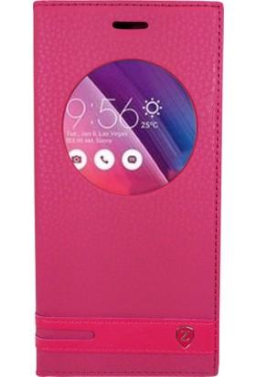Sonmodashop Asus Zenfone 4 ZE554KL Flip Cover Uyku Modlu Mıknatıs Kapaklı Kılıf + Ekran Koruyucu Cam