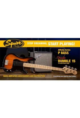 Squier Affinity Precision Bass Fender Rumble 15 Brown Sunburst