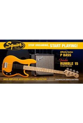 Squier Affinity Precision Bass Fender Rumble 15 Butterscotch Blonde