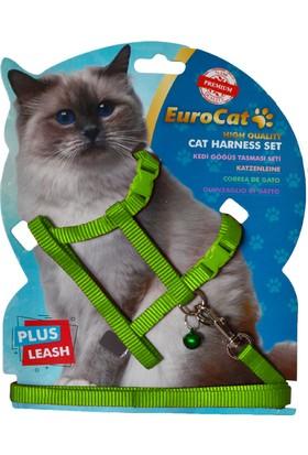 EuroCat Kedi Göğüs Tasması Yeşil