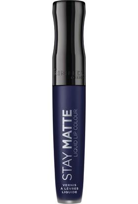 Rimmel London Stay Matte Liquid Likit Ruj Blue Iris