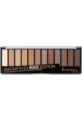 Rimmel London Magnif'Eyes Far Paleti 12'li Nude Edition