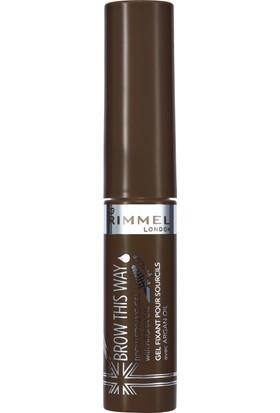 Rimmel London Brow This Way Brow Styling Gel Argan Oil Medium Brown