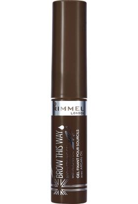 Rimmel London Brow This Way Brow Styling Gel Argan Oil Dark Brown