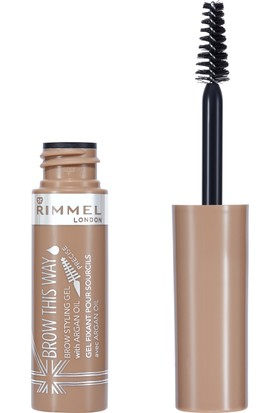 Rimmel London Brow This Way Brow Styling Gel Argan Oil Blonde