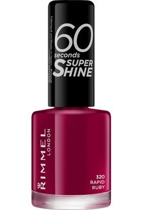 Rimmel London 60 Seconds Super Shine Oje 320 - Rapid Ruby