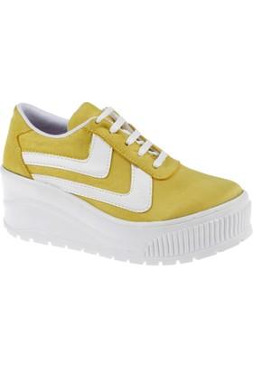 Shalin Kadın Ayakkabı Szr 3201 Sarı Süet